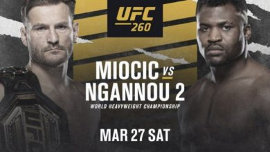 UFC 260 Miocic vs Ngannou 2 - Karta walk, pełna rozpiska