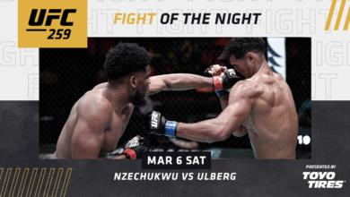 Przyznano bonusy po gali UFC 259