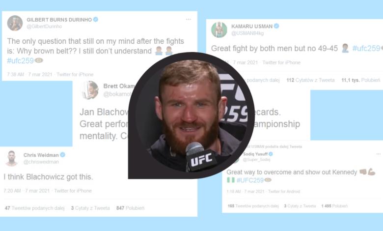 Reakcje świata MMA na zwycięstwo Jana Błachowicza (twitter)
