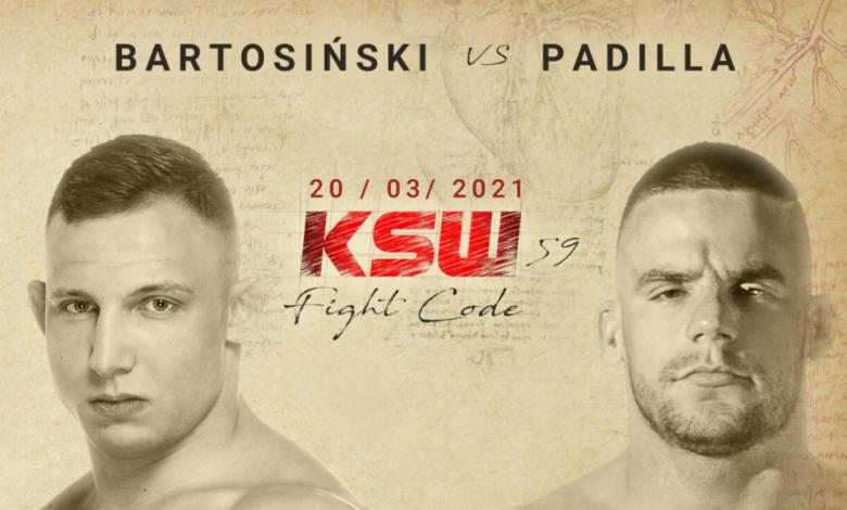 Adrian Bartosiński zadebiutuje na KSW 59. Rywalem Polaka inny debiutant.