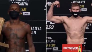 Wyniki ważenia przed UFC 259. Adesanya wniósł na wagę więcej, niż zapowiadał! [WIDEO]