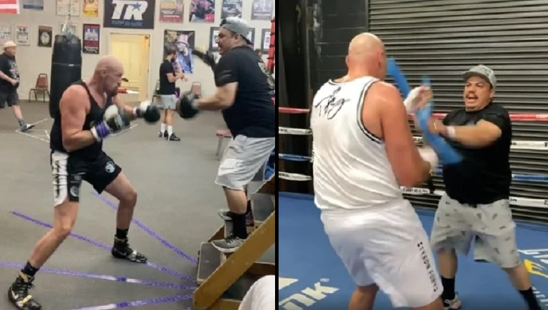 Tyson Fury w życiowej formie przed walką z Anthonym Joshuą! Jest wideo z treningu! [WIDEO]