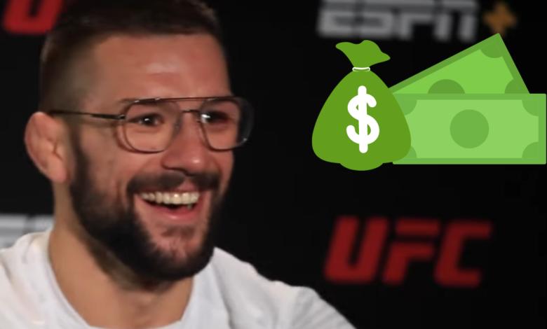 Mateusz Gamrot bogatszy o 50 tysięcy dolarów. Polak z bonusem za występ wieczoru po nokaucie na UFC Vegas 23!