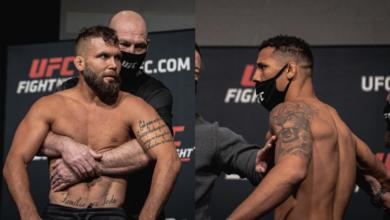 Przepychanka na ważeniu przed jutrzejszą galą UFC! Jeremy Stephens agresywnie odpycha Drakkara Klose [WIDEO]