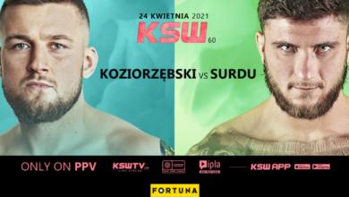 Starcie Kacper Koziorzębski vs. Ion Surdu zamyka kartę KSW 60.