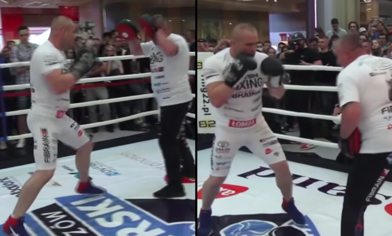 Łukasz Różański znokautuje Artura Szpilkę? Trening przed pojedynkiem o pas WBC International [WIDEO]