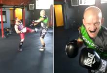 """MMA-VIP 2: """"Szczena"""" sparuje przed pojedynkiem z """"Psychotropem"""" [WIDEO]"""