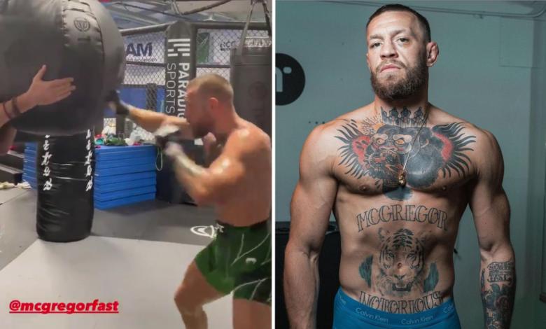 Conor McGregor w świetnej formie przed walką z Poirierem! Prezentuje szybkość przed galą UFC 264 [WIDEO]