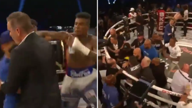 (VIDEO) Awantura podczas gali walk na gołe pięści. Kibic wszedł na ring i został pobity przez rapera