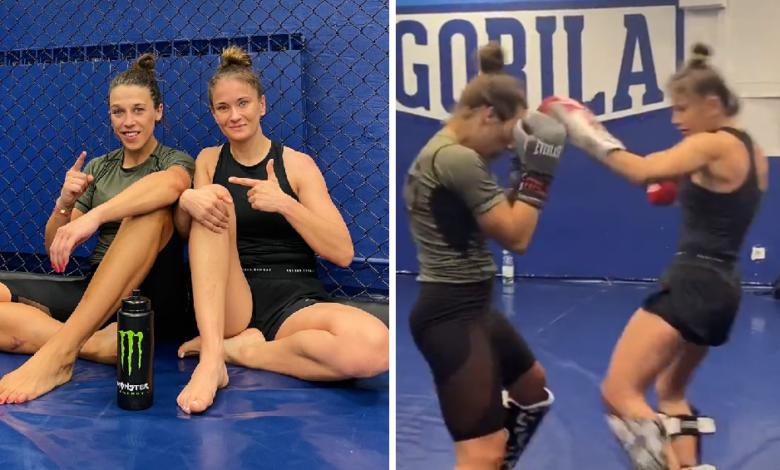 """(VIDEO) Karolina Kowalkiewicz sparuje z Joanną Jędrzejczyk: """"Bardzo cieszę się ze wspólnego treningu i dobrze jest zobaczyć ciebie w mega dobrej formie"""""""