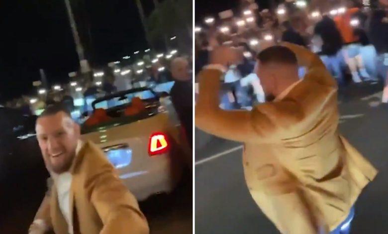 (VIDEO) Tłum kibiców czekał na McGregora przed restauracją. Irlandczyk dostał ogromne wsparcie przed walką z Poirierem
