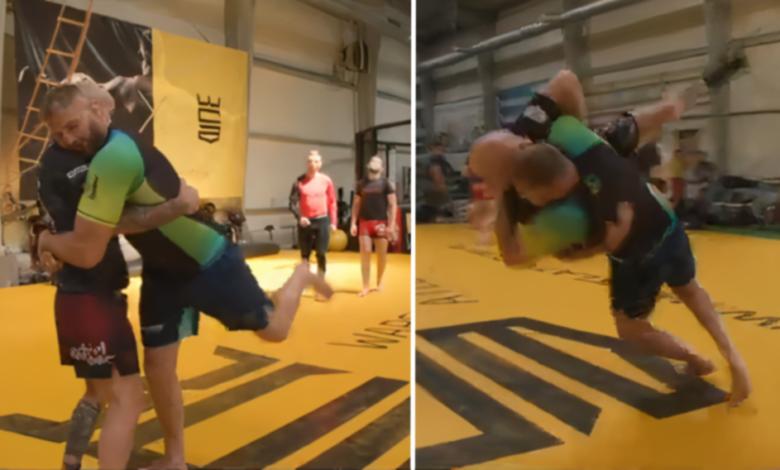 (VIDEO) Tak trenuje Jan Błachowicz. Cieszyński Książę rzuca wice-mistrzem świata w zapasach