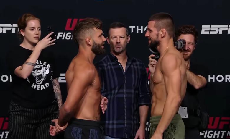 (VIDEO) Mateusz Gamrot twarzą w twarz z Jeremym Stephensem. Polak w świetnym nastroju przed walką