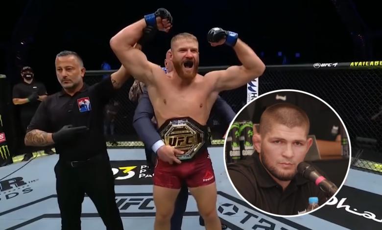 """Khabib wskazuje zawodnika, który może odebrać Błachowiczowi pas UFC? """"Ma wielkie szanse na to, żeby zostać mistrzem w 93 kg"""""""