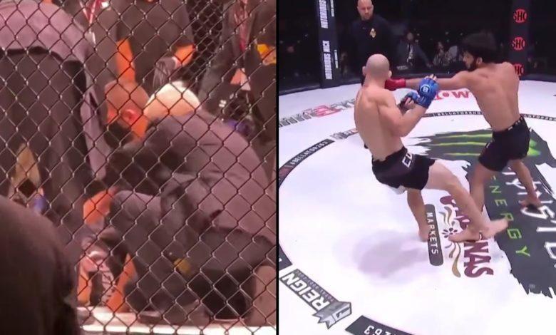 (VIDEO) Brutalne KO na gali Bellator. Trener Khabib ruszył pomóc znokautowanemu przeciwnikowi swojego podopiecznego