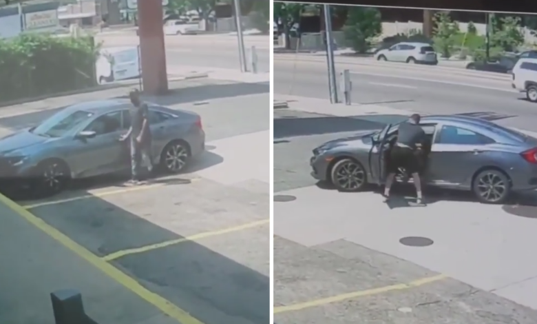 (VIDEO) Złodziej próbował ukraść auto zawodnika UFC. Po kilku kolanach na głowę fighter odpuścił rabusiowi