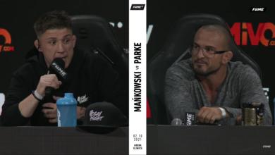 (VIDEO) Borys Mańkowski zawalczy z Normanem Parke na gali FAME MMA 11! Face-to-face i konferencja przed starciem