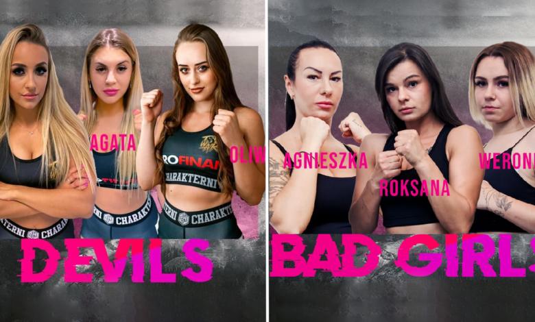 """(VIDEO) Pierwsza w historii walka kobiet 3vs3 na gołe pięści! Na gali The War 2 """"Devils"""" zmierzą się z """"Bad Girls"""""""