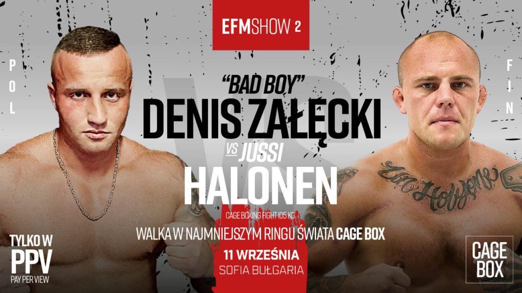 """Denis Załęcki z nowym rywalem na EFM SHOW 2! """"Człowiek chce się bić, a nie ma z kim"""""""