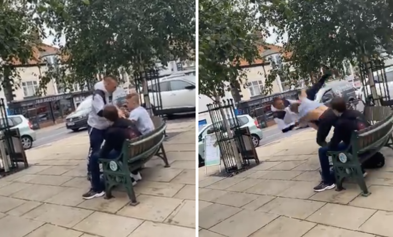 (VIDEO) Mężczyzna zaatakował 16-latka! Trafił na zawodnika MMA i wielokrotnego mistrza świata w BJJ!