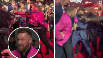 (VIDEO) McGregor oblałem drinkiem rapera i rzucił się na niego z pięściami!