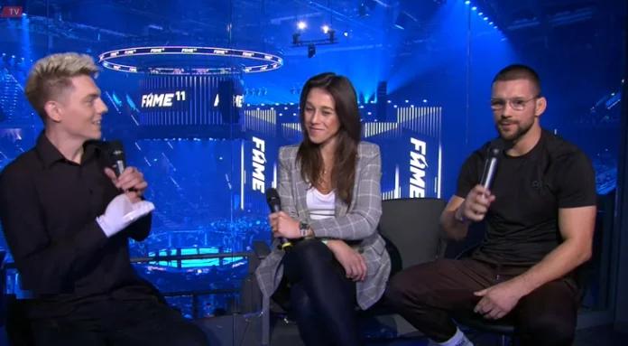Joanna Jędrzejczyk i Mateusz Gamrot pojawili się na gali FAME MMA 11! Zobacz co mieli do powiedzenia
