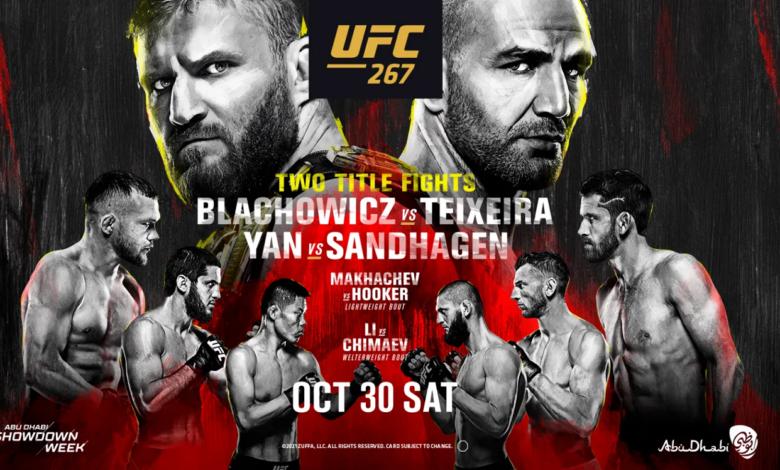 Gala UFC 267. Błachowicz - Teixeira. Gdzie oglądać? Transmisja w STS TV za darmo! Stream online